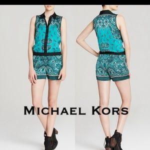 Michael Kors Sleeveless Button Down Romper